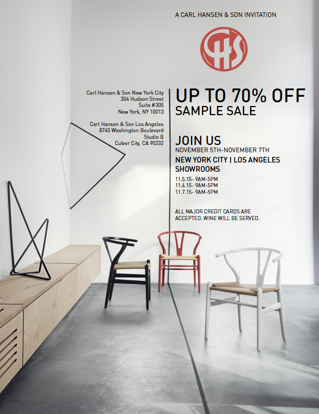 Carl Hansen & Søn Hosts A Floor Sample Sale