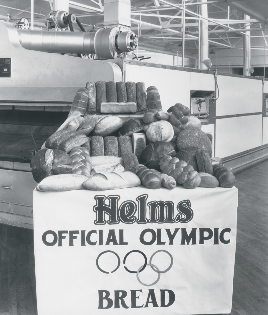 Loaves of Helms official Olympic bread.